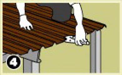 ใช้คีมหนีบบริเวณซ้อนทับแผ่น เพื่อความแน่นหนาในการยึดสกรู ทั้งหัวแผ่นและปลายแผ่น