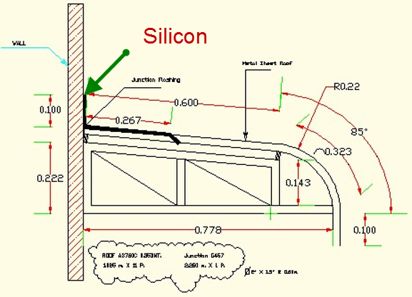 Image for เมทัลชีท Metal Sheet: ติดตั้งครอบกันน้ำกันรั่วด้วยซิลิโคน